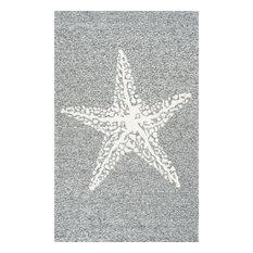 Hacienda Starfish Indoor/Outdoor Rug, Gray, 6'x9'