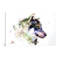 """""""Wolf"""" Print by Dean Crouser, 18""""x12""""x1.5"""""""