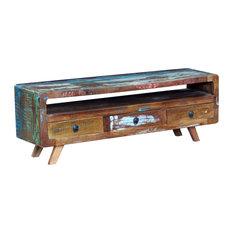vidaXL - vidaXL Solid Reclaimed Wood TV Cabinet With 3-Drawer - TV Stands & Units