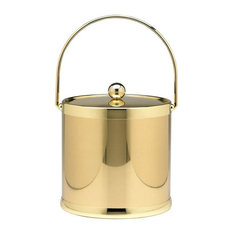 Kraftware Polished Brass Ice Bucket With Metal Lid