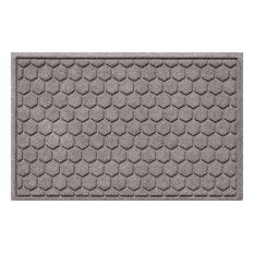 Bungalow Flooring - Aqua Shield 2'x3' Honeycomb Doormat, Medium Gray - Doormats