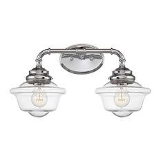 Savoy House Somerville 2 Light Fixture Chrome Bathroom Vanity Lighting