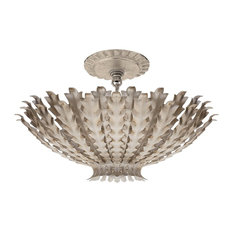Visual Comfort Lighting Hampton Small Chandelier, Burnished Silver Leaf
