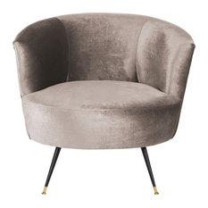Arlette Velvet Retro Mid-Century Accent Chair, Hazelwood