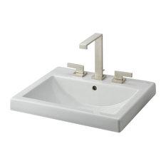 semi recessed bathroom sinks  houzz, Bathroom decor