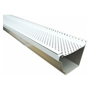 Free Flow Gutter Guard White Contemporary Roofing And