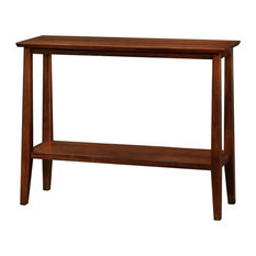 Bowery Hill Solid Wood Hall Stand In Sienna