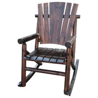 Char Log a Product of Leigh Country Rustic Single Rocker Without Star