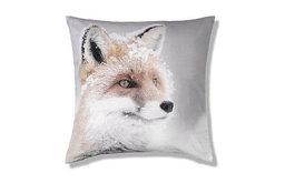 Snow Scene Fox Cushion