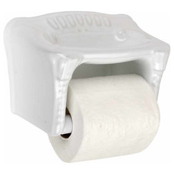 Amazing Traditional Toilet Accessories Toilet Paper Holder White Ceramic Porcelain Tissue Holder