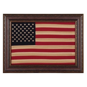 b35d2c9383f5 Large Aged Framed American Flag - Rustic - Wall Decor - by Burleson Home  Furnishings