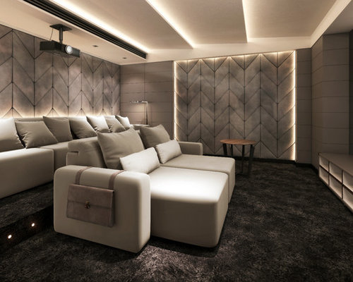 best modern home theater design ideas remodel pictures houzz - Home Theatre Design