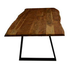 """Live Edge Dining Table, 84"""""""