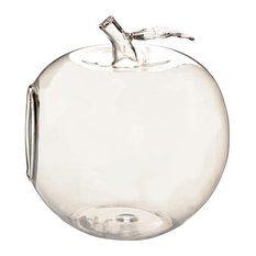 Apple Shaped Clear Glass Planter