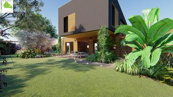 Jardin moderne et foisonnant