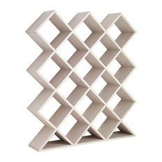 Lattice Natural Wall Shelf Unit