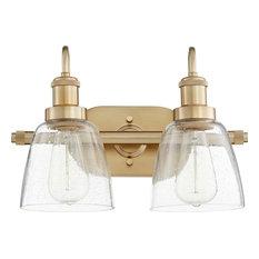 Quorum 508280 2-Light Vanity Aged Brass