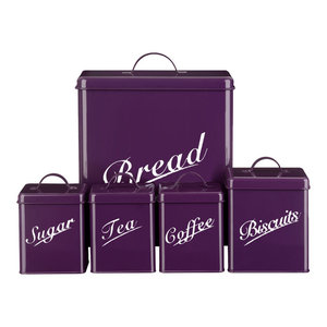 Chef Vida 5-Piece Canister Set, Purple