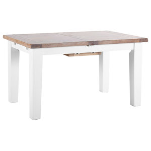 Extendable Dining Table, Pure White