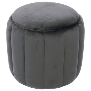 Remarkable Uttermost Linford Ottoman Gray Brown Transitional Dailytribune Chair Design For Home Dailytribuneorg