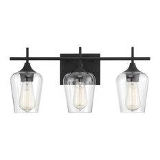 Savoy House Octave 3-Light Bathroom Vanity Light in Black