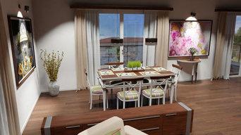 Interior Design & 360 Grad Visualisierung einer Maisonettewohnung in Radebeul
