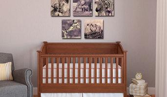 Safari Nursery Wall Art Collection - Lion, Elephant , Giraffe and Zebra Oh My!
