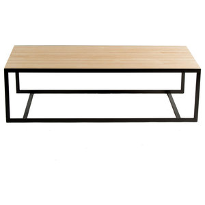 Ansted Coffee Table, Flat Iron, Maple