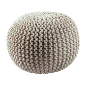 Cotton Rope Pouf, Off White