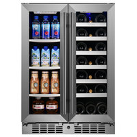 """Titan Signature 24"""" 64 Can 20 Bottle Built in Dual Zone Beverage and Wine Cooler"""