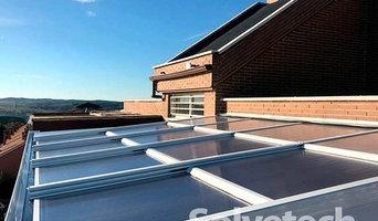 Instalación de techo móvil de policarbonato en Madrid