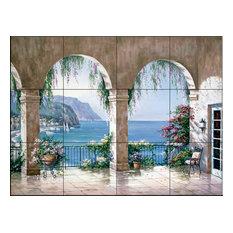 Tile Mural, Mediterranean Arch by Sung Kim