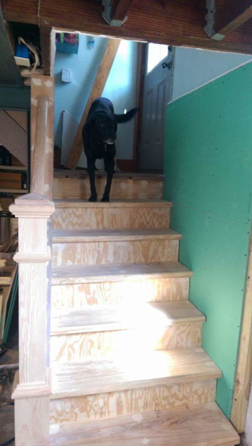Slippery Wood Basement Stairs How To Finish