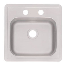 "Franke Stainless Steel Bar Sink, 15""x15""x6"""