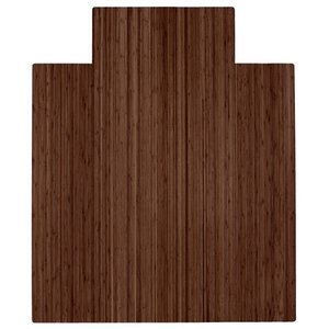 """Bamboo Roll-Up Chairmat, 44""""x52"""", With , Walnut"""