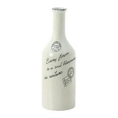 Accent Plus Porcelain Blossoming Long Neck Vase, Small