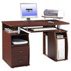 Techni Mobili Complete Workstation Computer Desk Gray