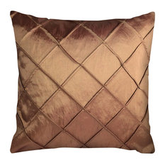 "Mabelle Throw Pillow, Reddish Bronze 18""x18"""