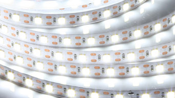 LED strip lighting - store front window