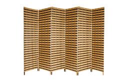 6' Tall Two Tone Natural Fiber Room Divider, 6 Panel