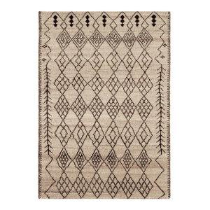 Amira Rectangular Traditional Rug, Brown, 160x230 cm