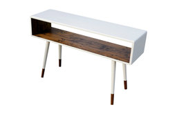 Midcentury Sofa Table, Dipped Poplar Wood by OrWa Designs