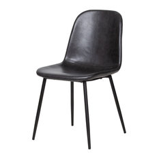 Norwich Dining Chairs Set Of 2 Black Leather