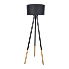 Midcentury. Clear All · Lightaccents   Light Accents Tripod Floor Lamp With  Wood And Metal Base And Linen Shade,