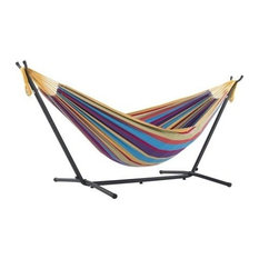 Vivere's Combo, Double Tropical Hammock With Stand, 9'