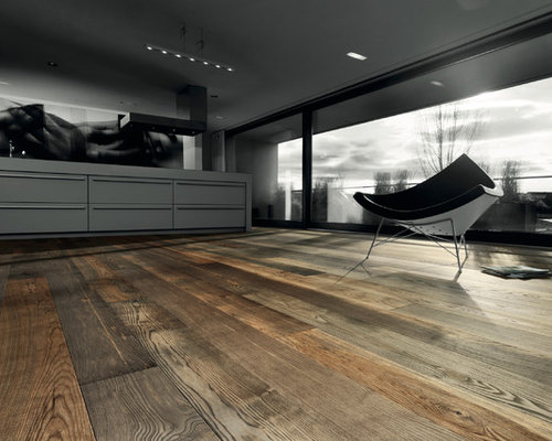 Parkettmanufaktur PLANK 1-STRIP ASH BARRIQUE WHITE brushed with bevelled edge al - Engineered Wood Flooring
