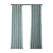 "Robin's Egg Blackout FauxSilk Taffeta Curtain Single Panel, 50""x84"""