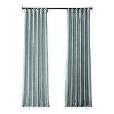 "Robin's Egg Blackout FauxSilk Taffeta Curtain Single Panel, 50""x120"""