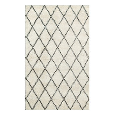 Rugsville  Moroccan Beni Ourain Ivory 10996 Wool Rug, Tan & Ivory, 9'x12'