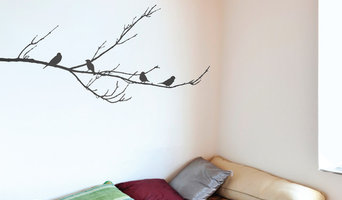 Sparrows On A Brand Wall Sticker